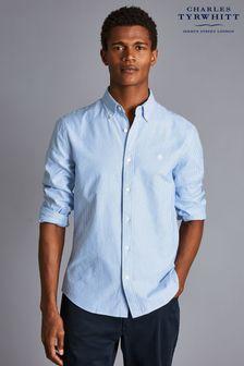 Charles Tyrwhitt Stripe Slim Fit Rfu Button-Down Washed Oxford Shirt