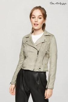 Miss Selfridge Suedette Tabby Coat