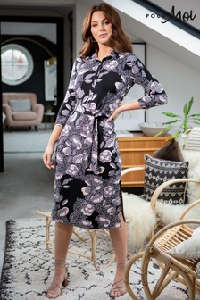 Pour Moi Slinky Jersey Midi Shirt Dress