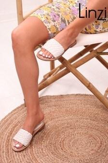 Linzi Faux Leather Weaved Slip On Slider