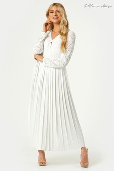 Little Mistress Fable Lace Pleated Midaxi Dress