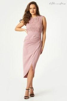 Little Mistress Natalia Lace Bodycon Midaxi Dress