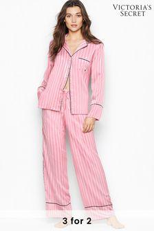 Victoria's Secret Satin Long PJ Set