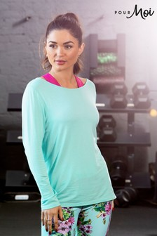 Pour Moi Cross Back Jersey Yoga Top