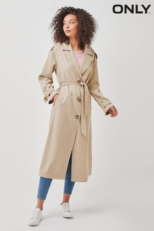 Only Wrap Front Trench Coat