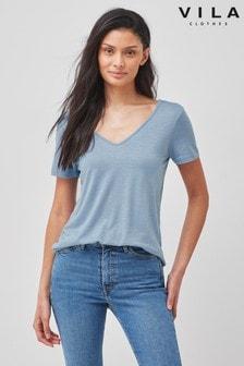 Vila V Neck T-Shirt