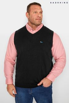 BadRhino Essential Sleeveless Knitted Jumper