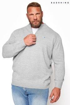 BadRhino Essential Quarter Zip Knitted Jumper