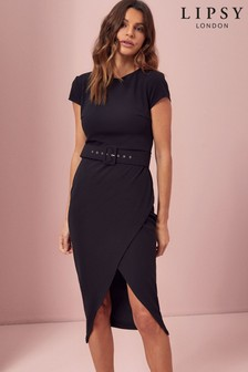 Lipsy Belted Bodycon Dress