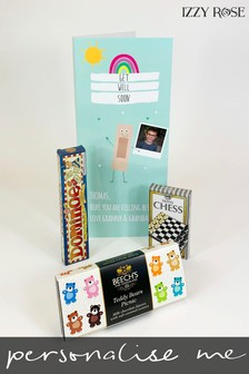 Personalised Mailbox Get Well Card and Gifts by Izzy Rose