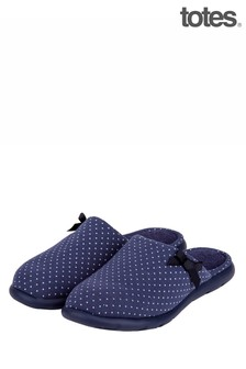 Totes Ladies IFlex Spotted Mule Slippers