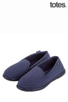 Totes Ladies IFlex Spotted Fully Backed Slippers