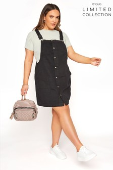 Yours Limited Collection Button Front Pinafore Dress