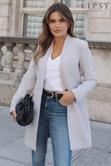 Lipsy Wool Blend Crombie Coat