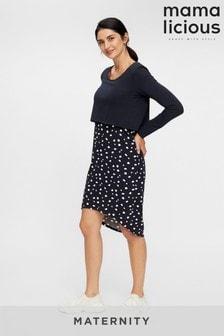 Mamalicious Maternity 2 In 1 Polka Dot Dress