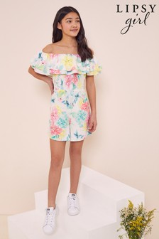 Lipsy Shirred Bodice Playsuit