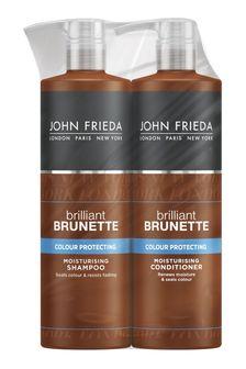 John Frieda Brilliant Brunette Colour Protecting Moisturising Shampoo And Conditioner Duo