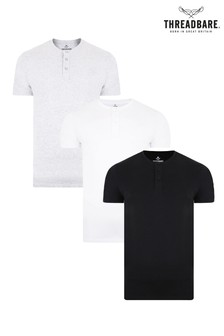 Threadbare Grandad T-Shirt 3 Multi Pack