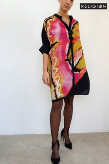 Religion Tunic Dress In Floral Print
