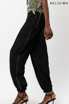 Religion Utility Style Trouser With Stud Detailing