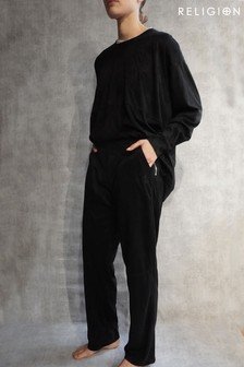 Religion Suedette Lounge Trouser With Waistband Details