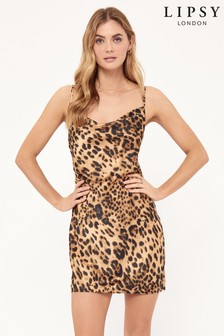 Lipsy Cowl Neck Slip Mini Dress