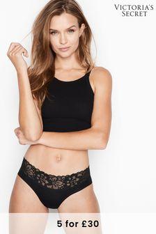 Victoria's Secret Stretch Cotton Lace Waist Hiphugger Panty