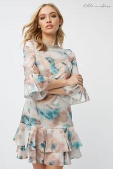 Little Mistress Mishka Agate-Print Tiered Shift Dress