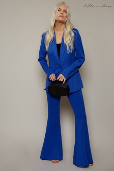 Little Mistress Ashley James Blue Flared Trousers