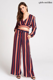 Little Mistress Ginny Stripe Palazzo Trousers