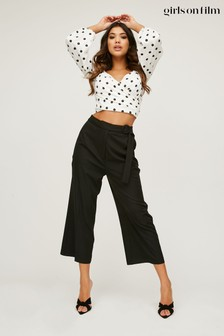 Little Mistress Modus Buckle Detail Wide-Leg Trousers