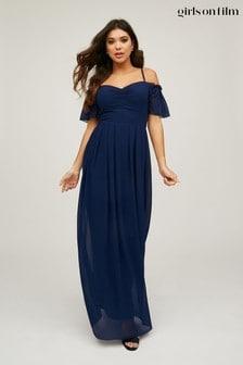 Little Mistress Vita Cold Shoulder Dress