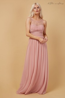 Little Mistress Grace Embellishment Sweetheart Maxi Dress