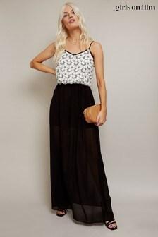 Girls On Film Floral Print Strappy Midi Dress