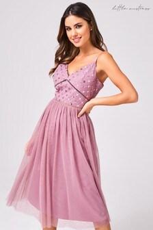 Little Mistress Phoebe Sequin Midi Dress