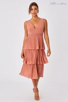 Little Mistress Ada  Tiered Hem Midi Dress