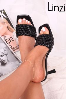 Linzi Weaved Mule Heeled Sandal