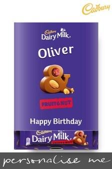 Personalised Cadbury Dairy Milk Fruit & Nut Favourites Box by Yoodoo