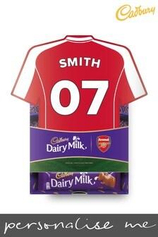 Personalised Arsenal Cadbury Dairy Milk Favourites Shirt Box by Yoodoo