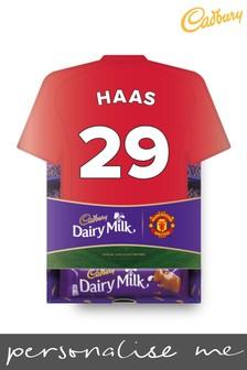 Personalised Manchester United Cadbury Dairy Milk Favourites Shirt Box by Yoodoo