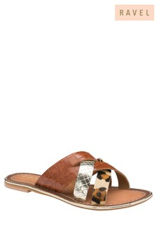 Ravel Leather Mule Sandals