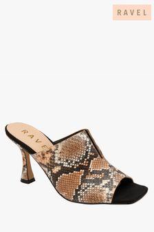 Ravel Snake Print Mule Sandals