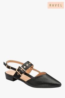 Ravel LizardPrint Flat Sandals