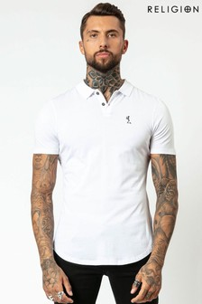 Religion Curved Hem Polo