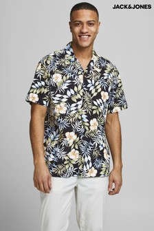 Jack & Jones Printed Short Sleeve Revere Shirt