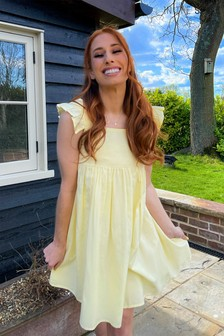 In The Style Stacey Solomon Frill Shoulder Smock Dress