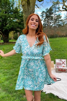 In The Style Stacey Solomon Frill Sleeve Day Dress