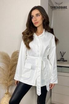 Threadbare Paris Tie Waist Jacket