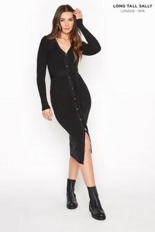 Long Tall Sally Button Through Knitted Cardigan Dress