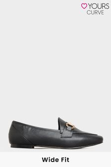 Yours Metal Trim Loafer In Extra Wide Fit